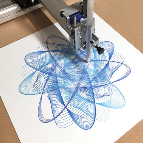 generative spirograph art print creative code algorithmic art computational design axidraw