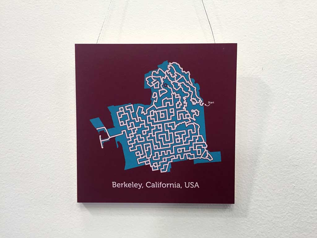 Berkeley maze map by Dirt Alley Design