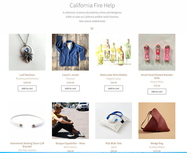 California Fire Help website
