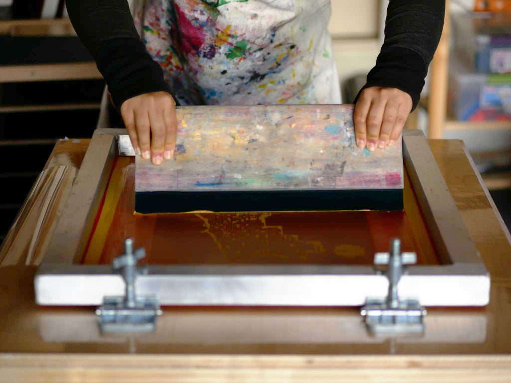 screen printing setup