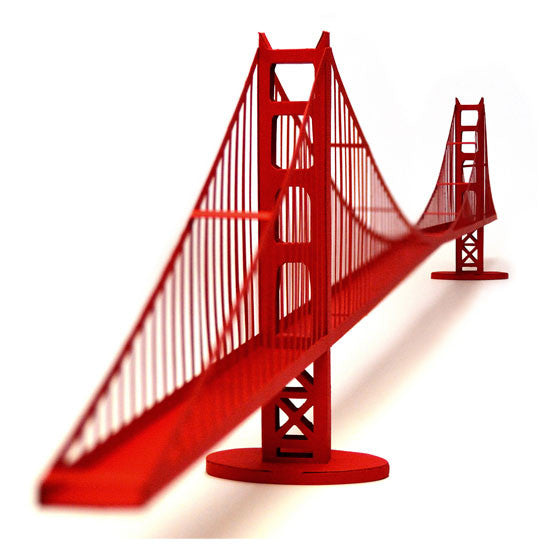 Golden Gate Bridge Model Kit by Paper Landmarks