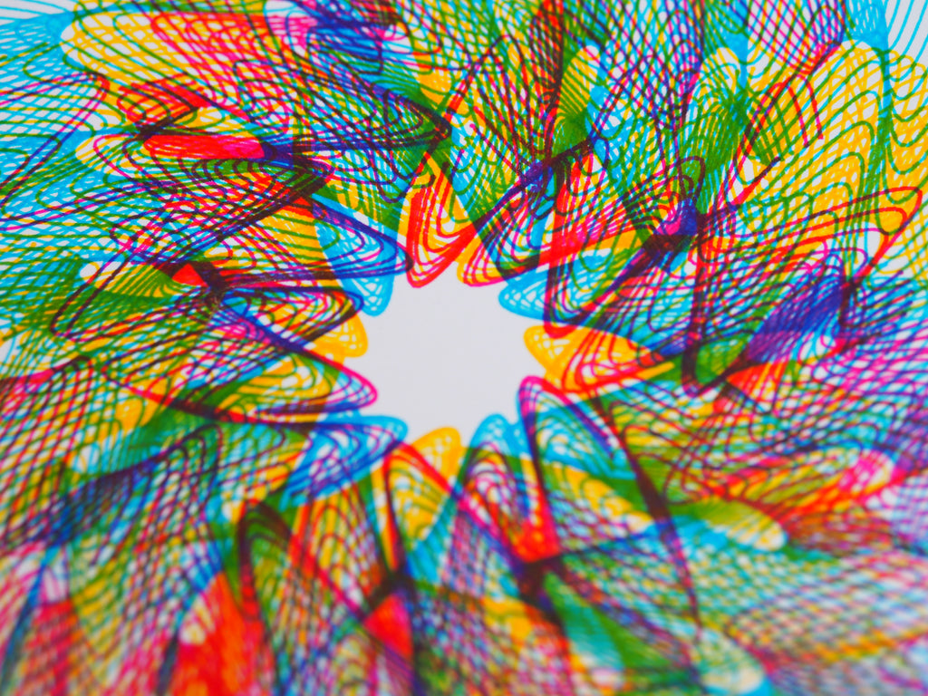 cmyk print stabilo fine point markers axidraw pen plotter generative art spirograph design