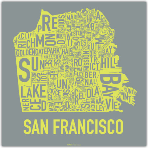 san francisco poster by ork posters