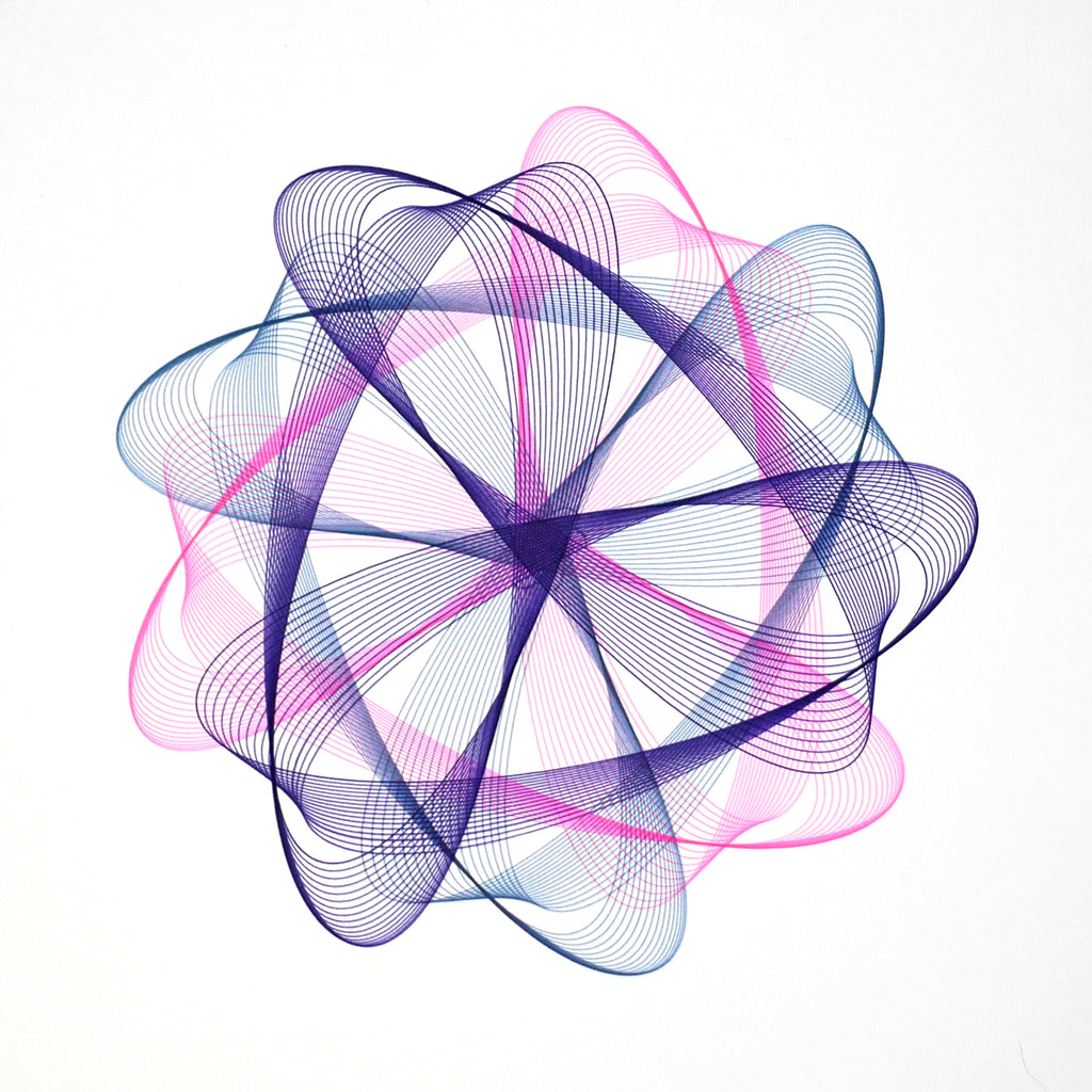 Staedtler triplus fineliner pens example drawing with axidraw pen plotter generative art spirographs