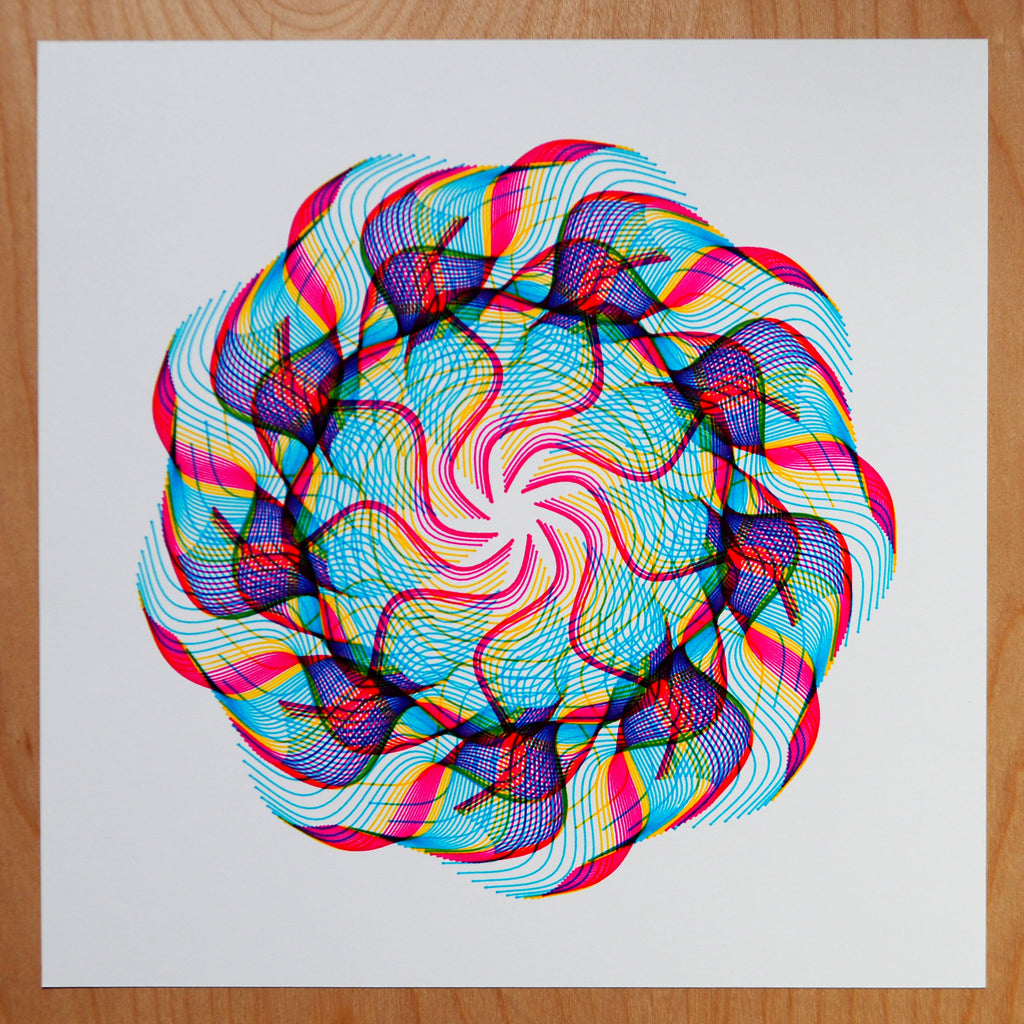 seaweed spirograph generative art by michelle chandra