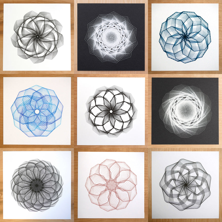 algorithmic spirograph art by michelle chandra of dirt alley design