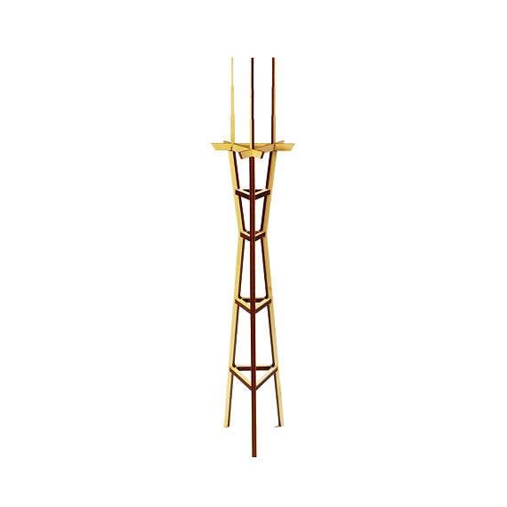 Wood Sutro Tower Model Kit