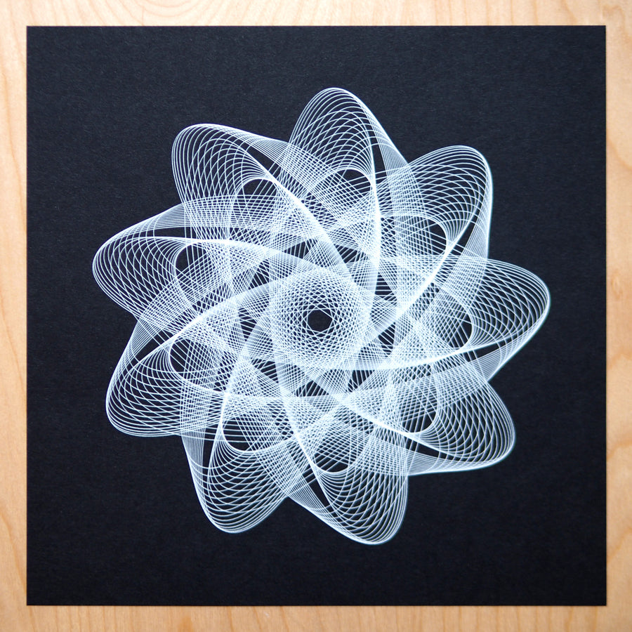 Atomic Flower Plotter Art - Limited Edition of 6