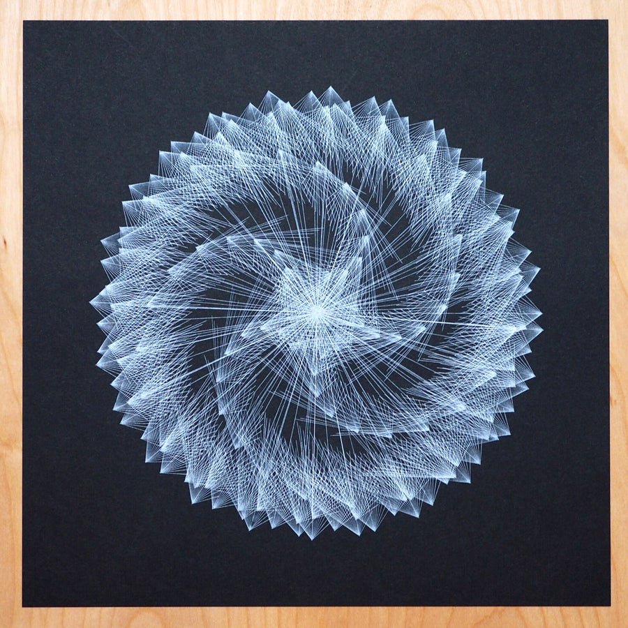 Inception Mountains Spirograph Print - Limited Edition of 1