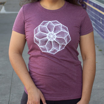 Heptagon Flower T-Shirt - Women's Slim Fit Tee