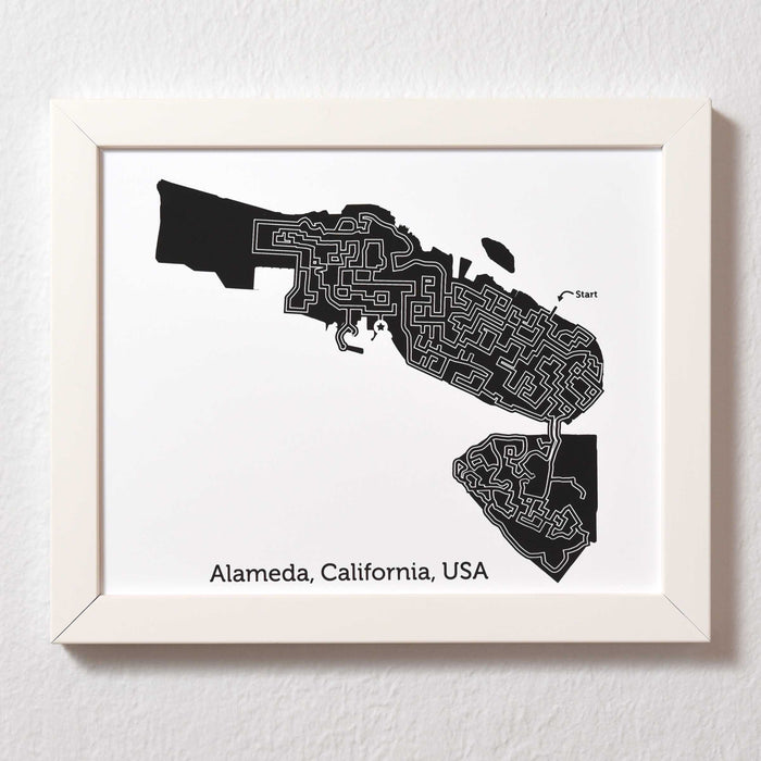 Black and White Alameda Print | 8X10 Map Art