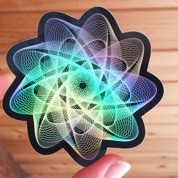 Atomic Flower Stickers - 3in