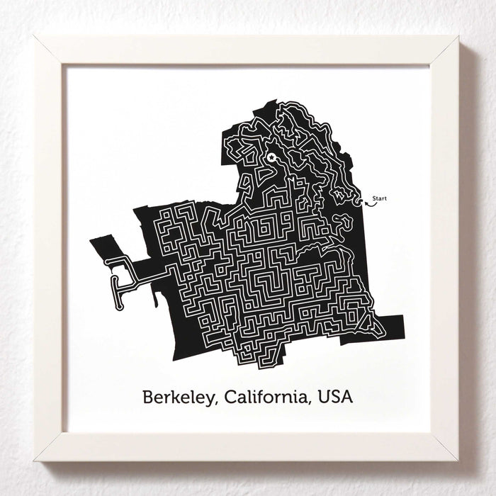 Black and White Berkeley Print | 10X10 Map Art