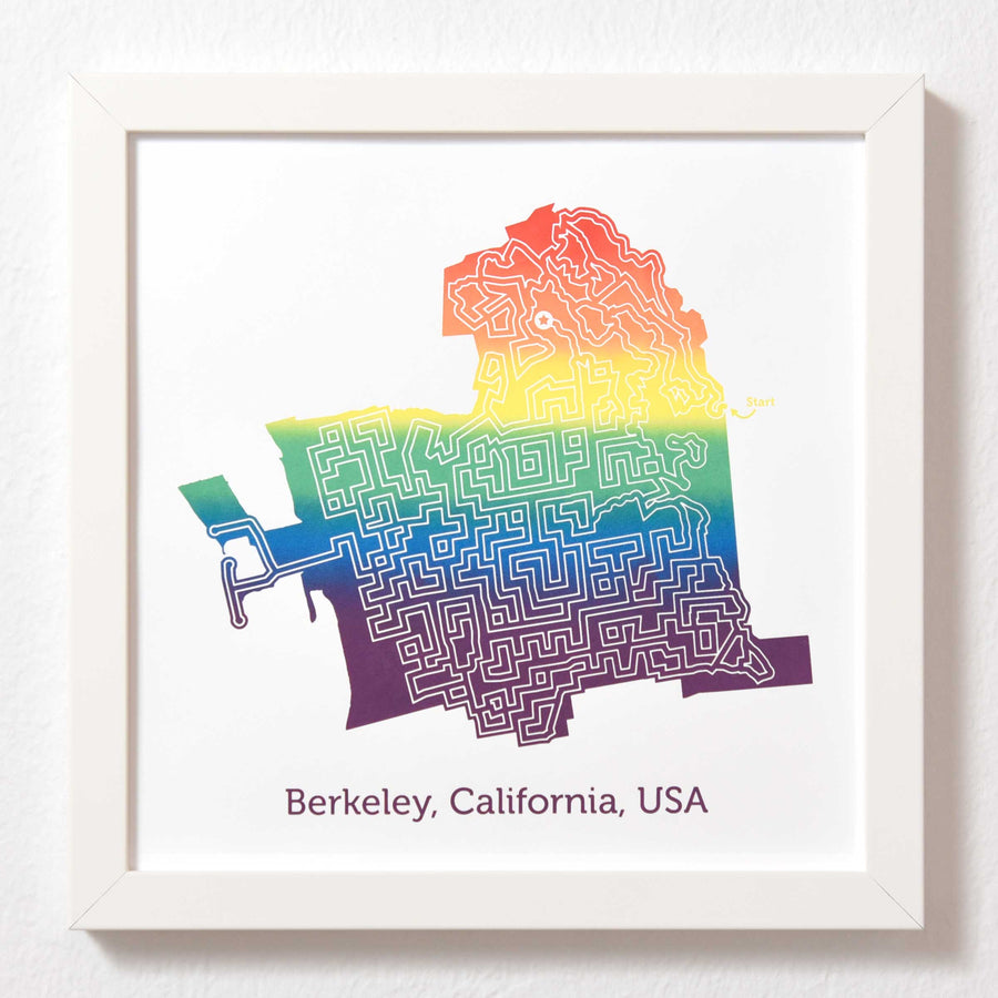 Rainbow Berkeley Poster | 10X10 Rainbow Art