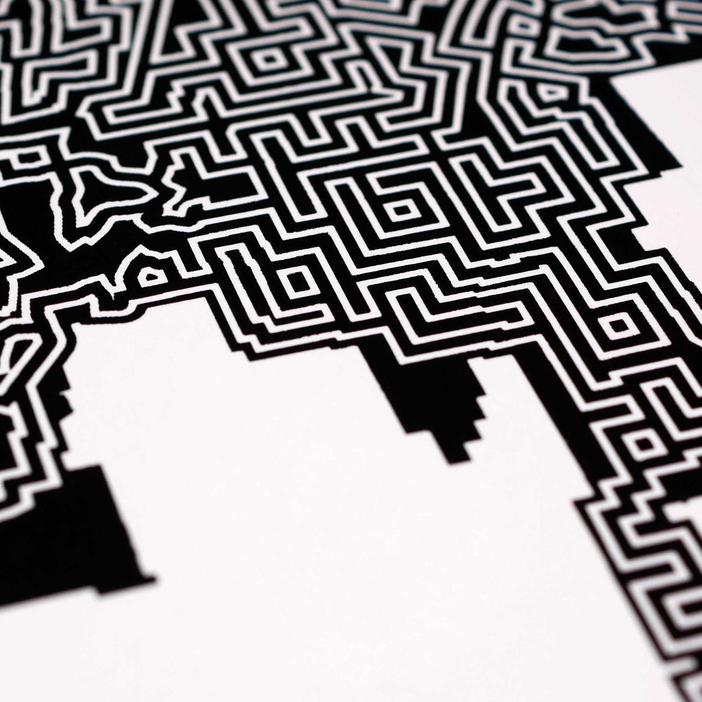 Black and White Los Angeles Print | 11X14 Maze Art
