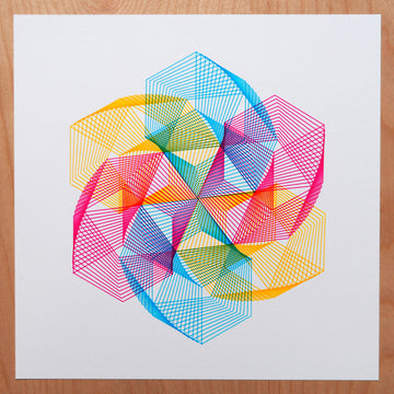 Star of David Print - CMYK, Rainbow or Black and White