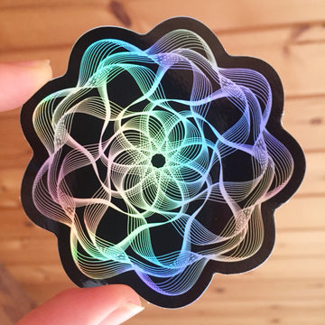 Flower Mandala Stickers - 3in