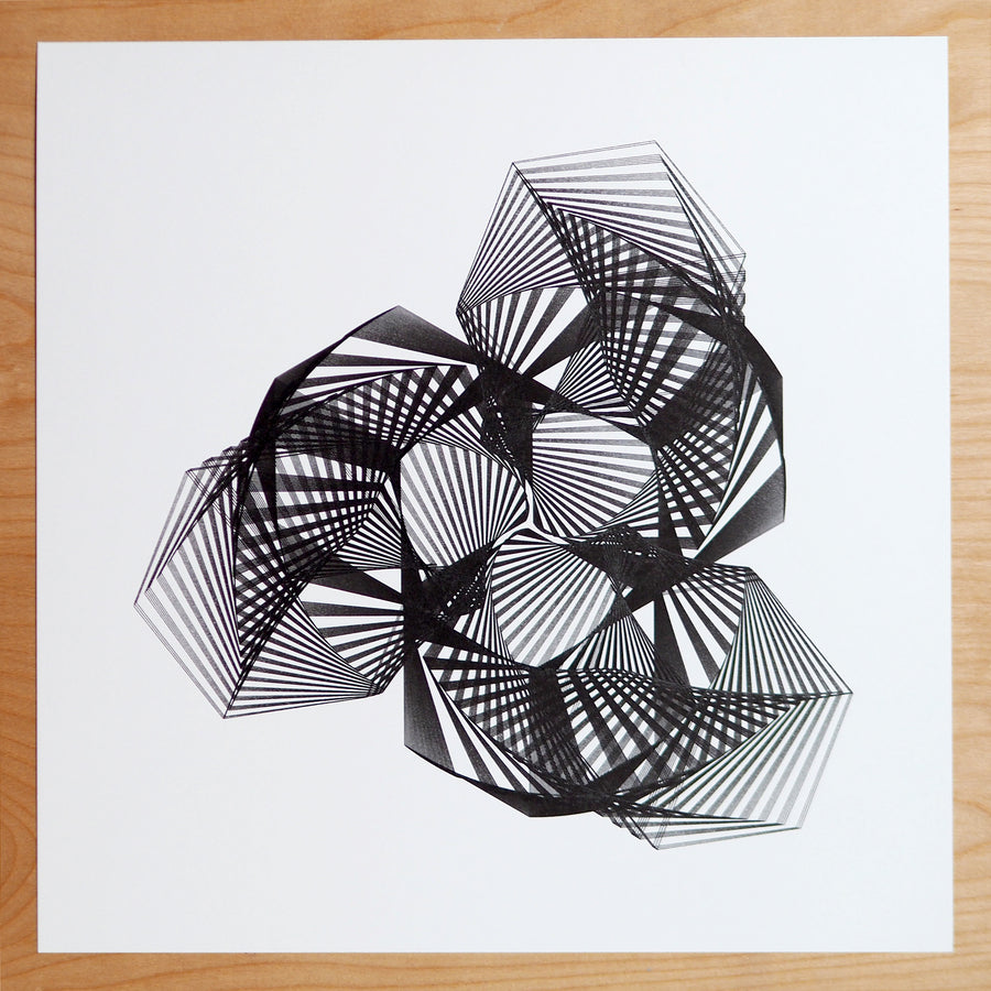 Gingko Leaves Spirograph Print - Limited Edition of 1