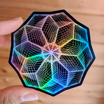 Heptagon Flower Stickers (5 colors available)