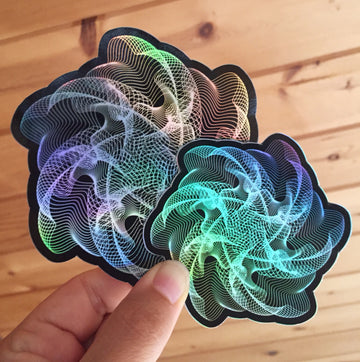 Jellyfish Jam Stickers - 3 in. & 4 in.