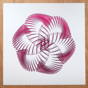 Black-Red Kusudama Spirograph Print - Black Girls Code Donation