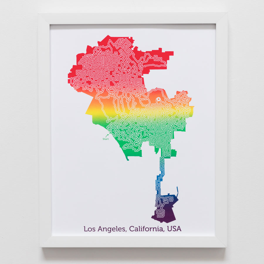 Rainbow Los Angeles Print | 11X14 Rainbow Art
