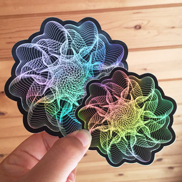 Sea Anemone Stickers - 3 in. & 4 in.