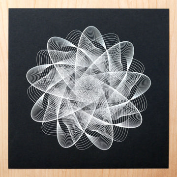 Soundwave Spirograph Art Print