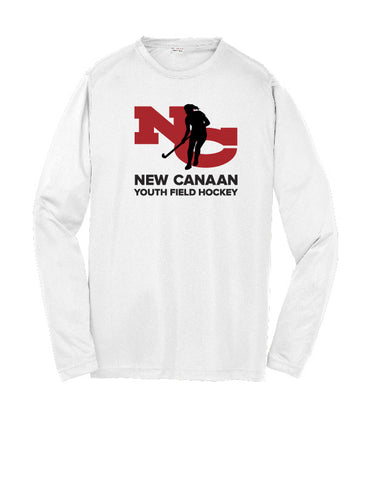 New Canaan Youth Field Hockey Youth Long Sleeve Performance Shirt