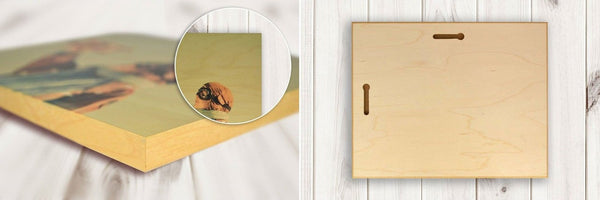 SubShots HD Natural Wood Print - Your own photo