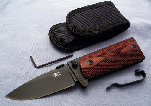 M1911 Compact Folding Knife, black 440C blade