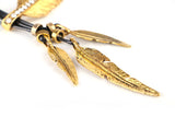 Bohemian Feather Necklace - Gold