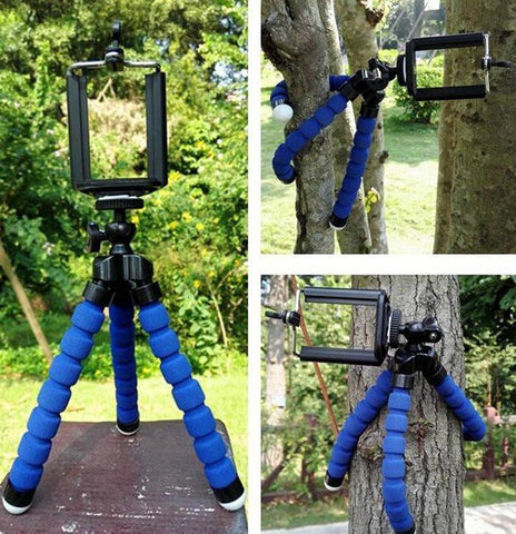 Flexible and Bendy Mini Tripod with Bluetooth