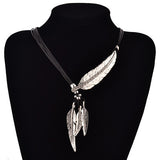 Bohemian Feather Necklace - Silver