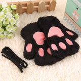 Furry Cat Paw Gloves