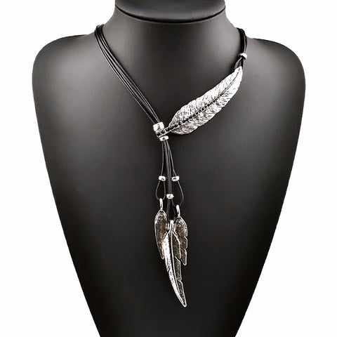 Bohemian Feather Necklace*