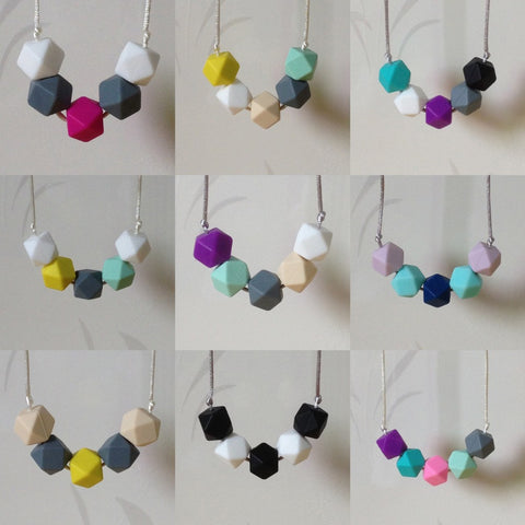 Mom's Breast Friend Teething Necklaces (2 necklaces)