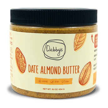 Date Almond Butter - 16oz - Debby's Bites