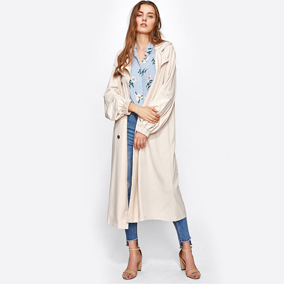 Gun Flap Trench Coat