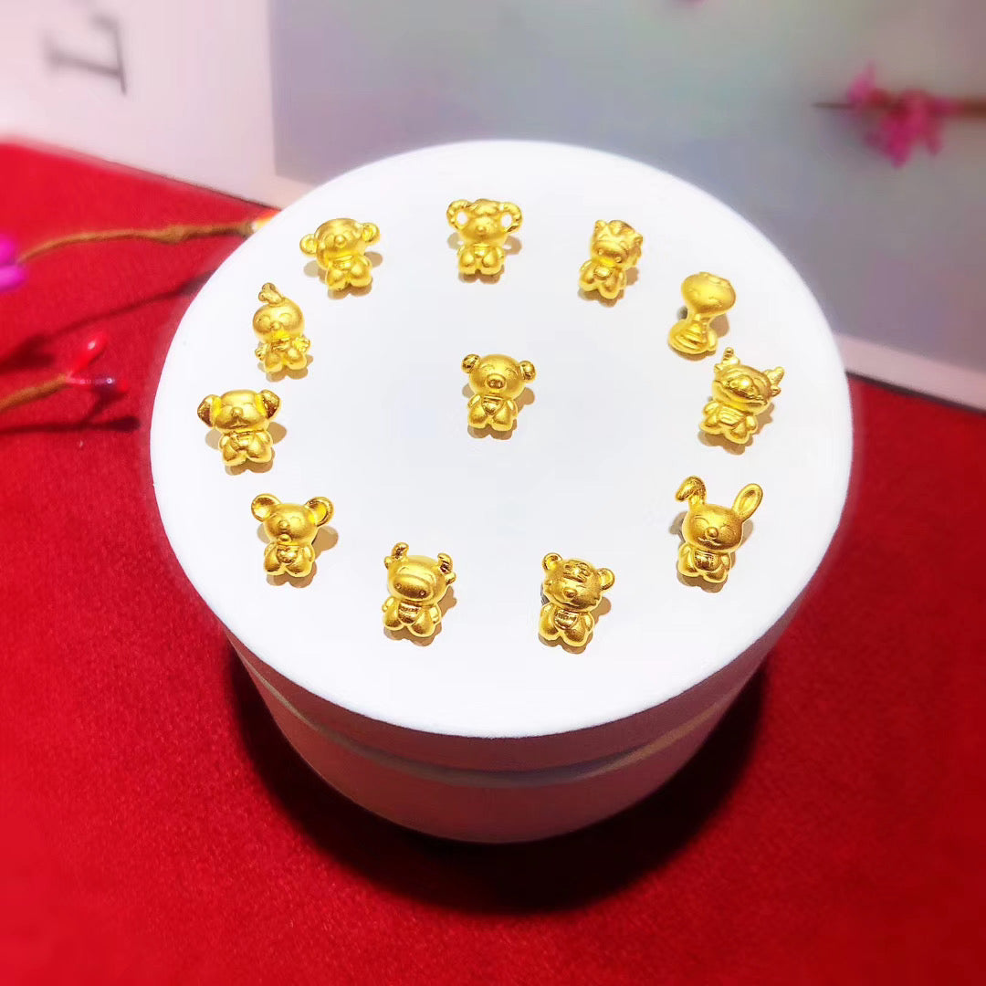 Solid gold charms