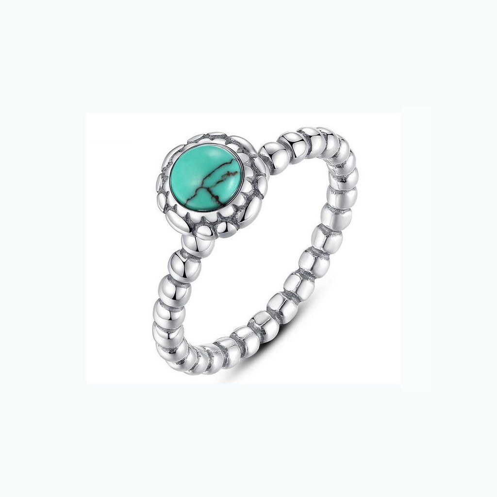 turquoise 925 sterling silver ring - Xingjewelry