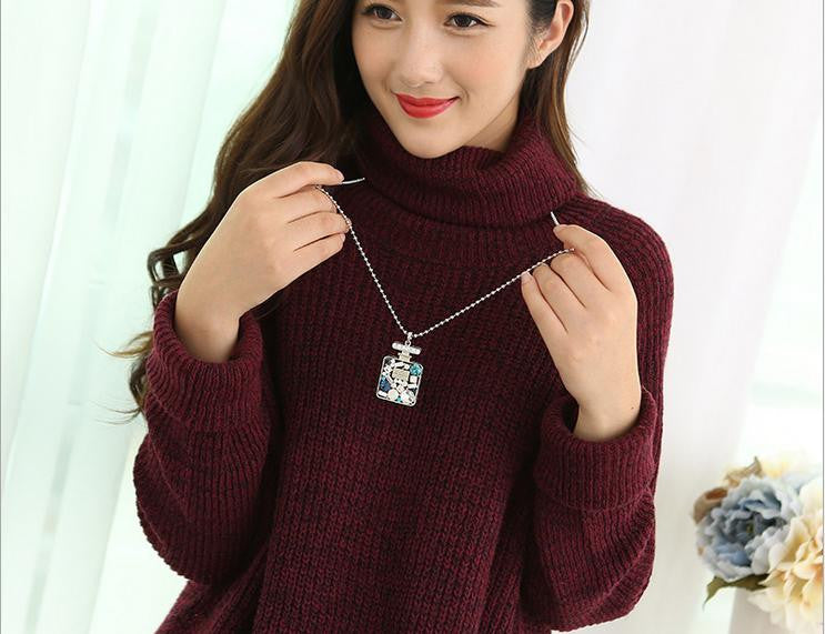 swa crystal hot selling sweater necklace - Xingjewelry