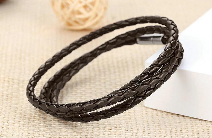 magnet buckle pu leather bracelet - Xingjewelry