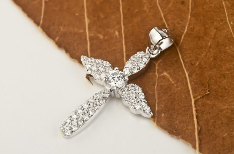 925 sterling silver zircon cross - Xingjewelry