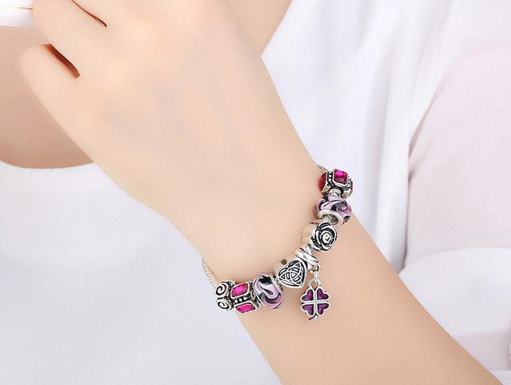 silver coating alloy combination bracelet - Xingjewelry