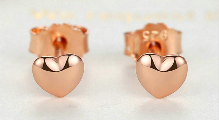 rose gold color 925 sterling silver earring - Xingjewelry