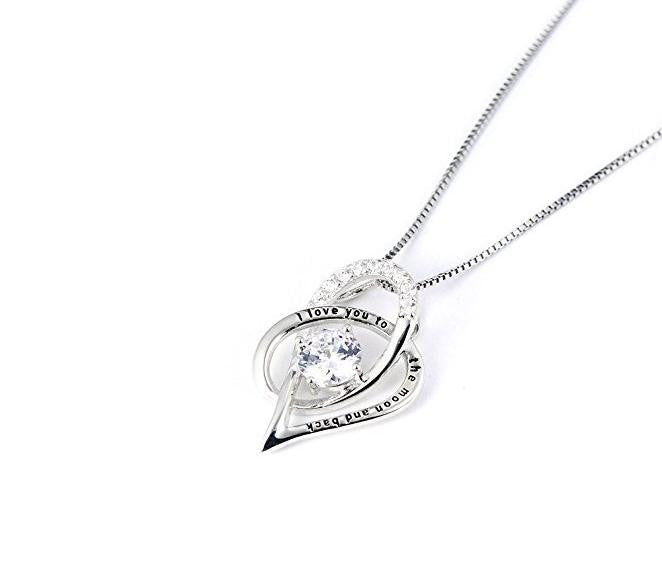 "925 silver "" i love you"" necklace - Xingjewelry"