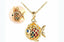 gold plate cute fish pendant necklace - Xingjewelry
