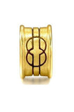 "24 k pure gold ""wisedom""symbol charm pendant. - Xingjewelry"