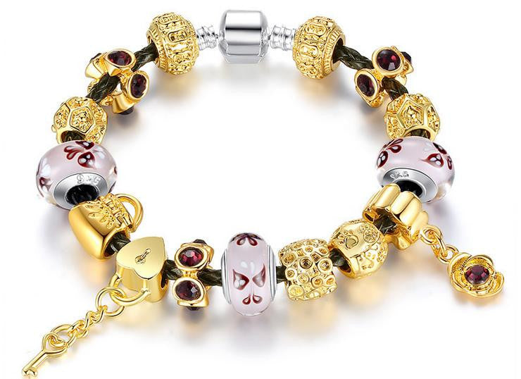 gold plating alloy combination bracelet - Xingjewelry